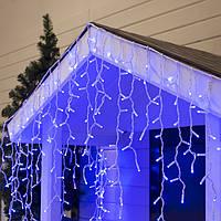 Гирлянда уличная Бахрома Alphatrade  3*0,6 м, 120 диодов (проф) с мерцанием Flash, белый провод, цвет синий