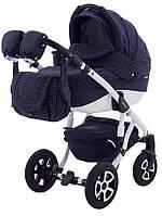 Универсальная коляска Adamex Erika Len 399W темно-синий (узор сердца)