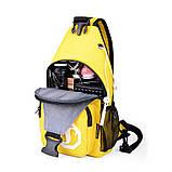 Сумка через плече c usb Sankey мини рюкзак городской черный  Код 13-7155, фото 2