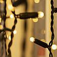 Гирлянда уличная Штора Alphatrade 2*2 м, 216 диодов, черный провод, цвет белый теплый, с мерцанием flash, фото 2