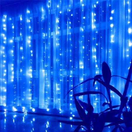 Гирлянда Штора Alphatrade 3*3 м, 500 диодов, прозрачный провод, цвет синий, +статика