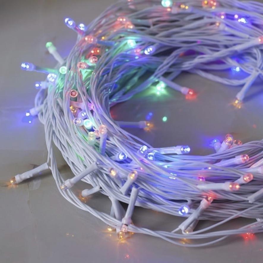 Гирлянда уличная Нить Alphatrade 30 м, 300 диодов (полупроф), белый провод, цвет разноцветный