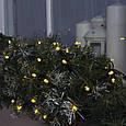 Гирлянда уличная Нить Alphatrade  10 м, 100 диодов (Проф), черный провод, цвет белый теплый, с мерцанием flash, фото 2