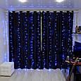 Гирлянда Водопад Alphatrade 2*2 м, 280 диодов, прозрачный провод, цвет синий, +статика, фото 2