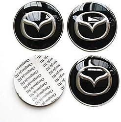 Наклейки на колпачкидлядисков Mazda 2,3,5,6,8 MX5 CX5,9,7
