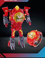 Часы трансформер робот красный