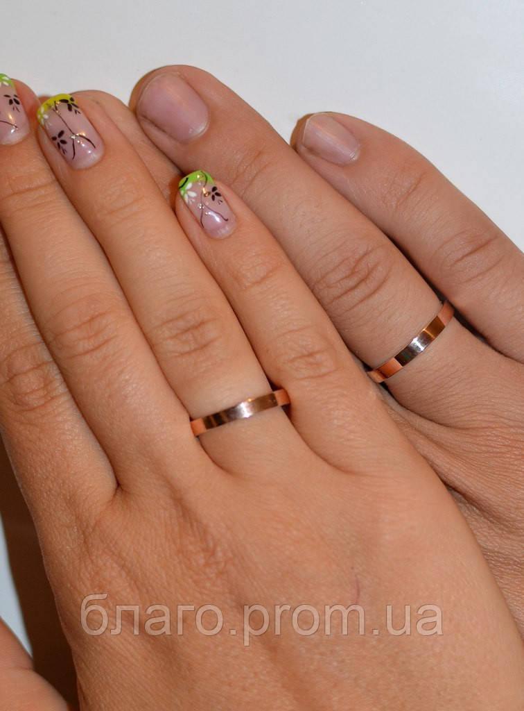 Обручальное кольцо серебряное 925 пробы с напаянными пластинками золота 375  пробы 2,5 мм, ... 289606a649b