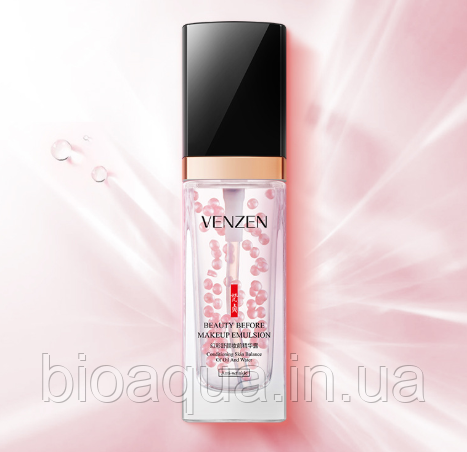 База эмульсия для макияжа Venzen Beauty Emulsion Anti-Whinkle жемчужное сияние против морщин 30 g