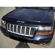 Дефлектор капота  Jeep Grand Cherokee c 1999-2004, Мухобойка Jeep Grand Cherokee (WJ)