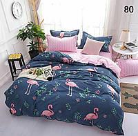 Комплект постельного белья для девочки фламинго. Подростковый комплект