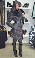 Пальто зимнее с натур. мехом фото оригинал