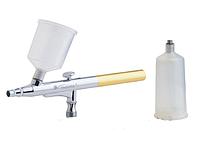 Аэрограф профессиональный с пластиковой ёмкостью, 0,3 мм