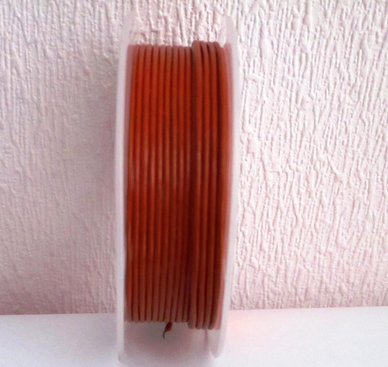 Кожа круглая гладкая коричневая 1,5 мм