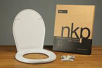 Сиденье для унитаза с крышкой Kelebek 41,2-42,8x36,2см (пластик. крепление)