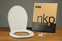 Сиденье для унитаза с крышкой Kelebek 41,2-42,8x36,2см (метал. крепление)