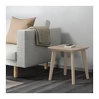 IKEA ЛИСАБО Придиванный столик, ясеневый шпон, 45x45 см, (102.976.56)
