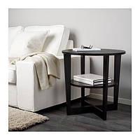 IKEA ВЕЙМОН Придиванный столик, черно-коричневый, 60 см, (401.366.81)