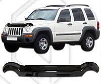 Дефлектор капота  Jeep Liberty (KJ) с 2001–2007,  Мухобойка Jeep Liberty (KJ)