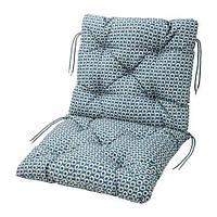IKEA ИТТЕРОН Подушка на садовую мебель, синий, 92x50 см, (803.147.04)