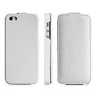 Чехол на телефон Textured Faux Leather Case for iPhone 5 White (уценка)
