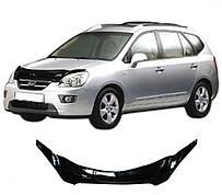 Дефлектор капота  Kia Carens с 2002–2006,  Мухобойка Kia Carens