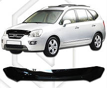 Дефлектор капота  Kia Carens с 2006-2010,  Мухобойка Kia Carens