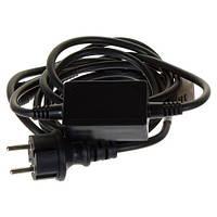 Шнур питания для светодиодных гирлянд черный 10А IP44 Код.59158