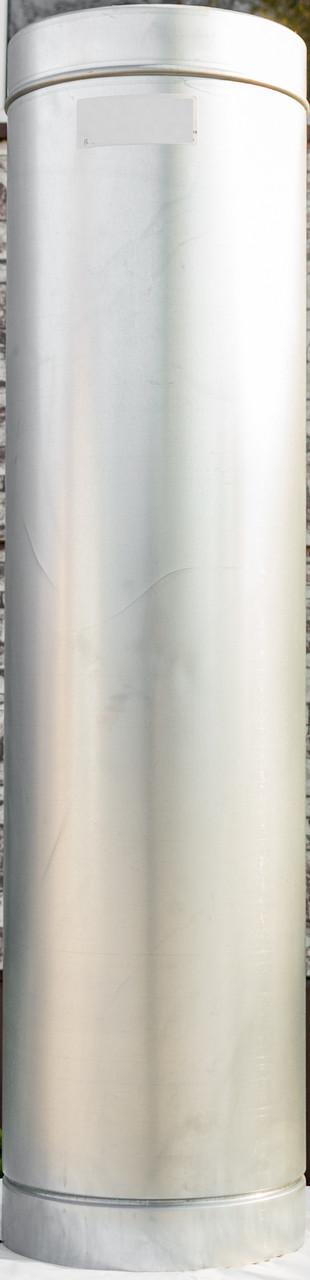 Труба дымоходная L 1000 мм нерж/оц стенка 0,5 мм 220/280