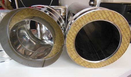 Труба дымоходная L 1000 мм нерж/оц стенка 0,5 мм 220/280, фото 2