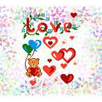 """Водорастворимый флизелин с рисунком """"Confetti"""" (K 203 Признание в любви)"""