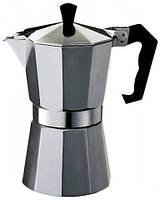 Гейзерная кофеварка 300мл Con Brio CB6006 Silver