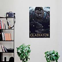 """Постер """"Гладиатор (2000). Рисунок"""". Gladiator, Рассел Кроу, Хоакин Феникс, Ридли Скотт. Размер 60x40см (A2). Глянцевая бумага, фото 2"""