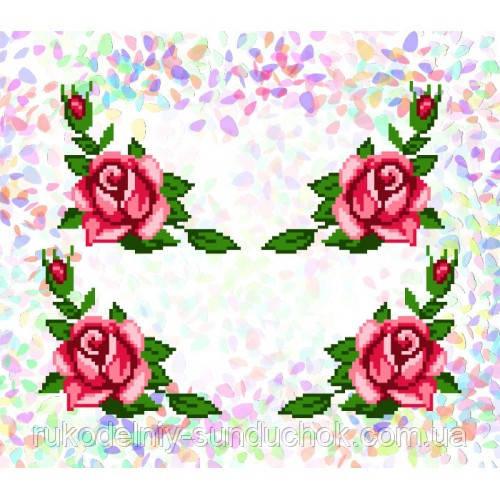 """Водорастворимый флизелин с рисунком """"Confetti"""" (K 205 Розы)"""