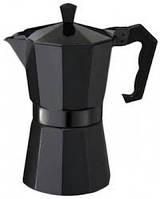 Гейзерная кофеварка 300мл Con Brio CB6006 Black