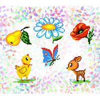 """Водорастворимый флизелин с рисунком """"Confetti"""" (K 207 Лесная поляна)"""