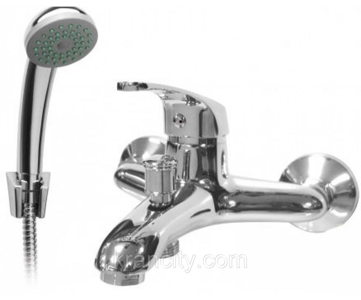 Смеситель для ванны однорычажный FERRO ROSA BRR11, кран в ванную с душевым набором