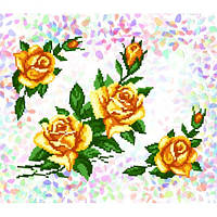 """Водорастворимый флизелин с рисунком """"Confetti"""" (K 208 Желтые розы)"""