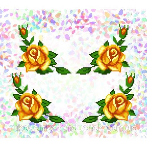 """Водорастворимый флизелин с рисунком """"Confetti"""" (K 209 Желтые розы)"""