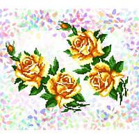 """Водорастворимый флизелин с рисунком """"Confetti"""" (K 212 Желтые розы)"""