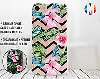 Силиконовый чехол для Apple Iphone 8 plus Цветы (4023-2013)