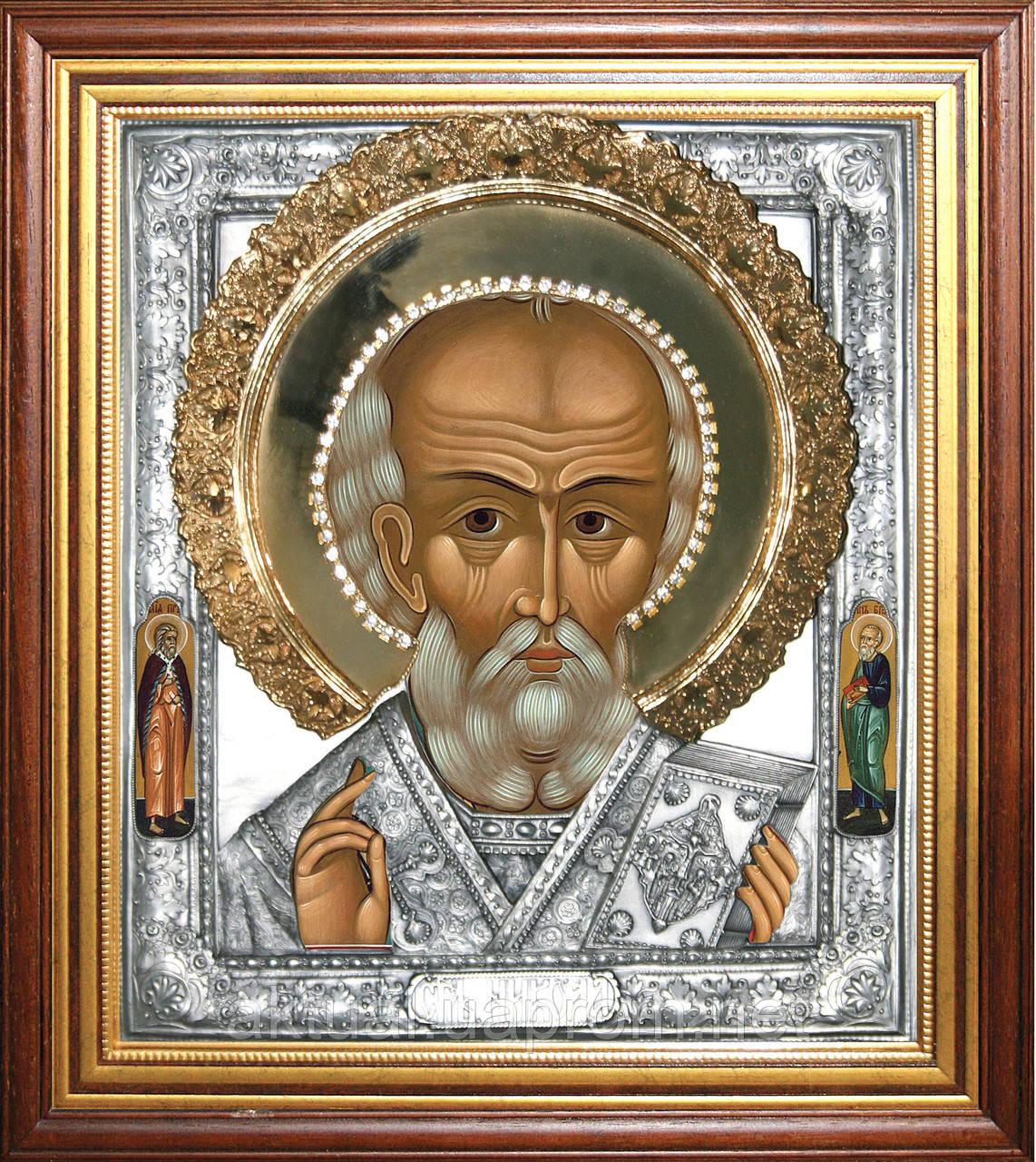 Икона Николай Чудотворец из серии триптих