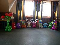 Фигуры из воздушных шаров.Набор забавных зверюшек на день рождения.