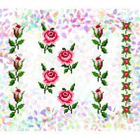 """Водорастворимый флизелин с рисунком """"Confetti"""" (K 215 Маленькие розы)"""