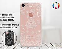Силиконовый чехол для Apple Iphone Se Рисунок хной (4006-2014)