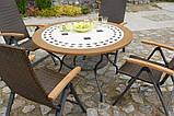 Стіл з кам'яною стільницею Como 125-130 см, фото 2