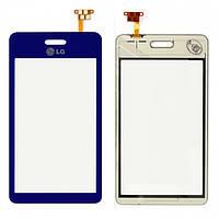 Touchscreen (сенсорный экран) для LG GD510, оригинал (синий)
