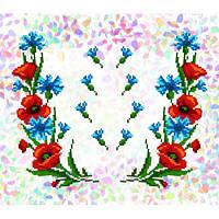 """Водорастворимый флизелин с рисунком """"Confetti"""" (K 218 Маки и васильки)"""