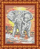 Схема для вышивки бисером Слон