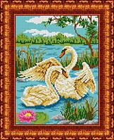 Схема для вышивки бисером Пара лебедей