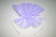Сиреневый пакет для упаковки цветов и горшков (сетка соты)